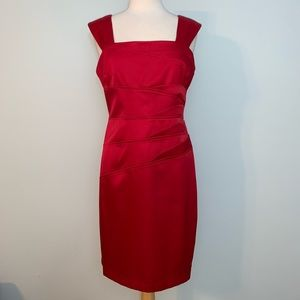 Stunning red satiny dress